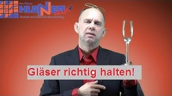 Tischmanieren - Gläser richtig halten - Knigge - online Seminar 🍸