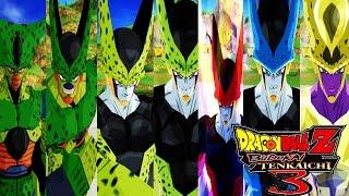 Cell Forms Pack - Dragon Ball Z Budokai Tenkaichi 3 (MOD)