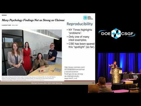 DOE CSGF 2017: Better Science Through Software