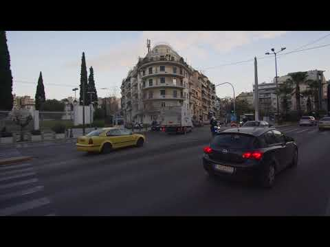 Greece, bus X95 ride from Syntagma to Athens Airport