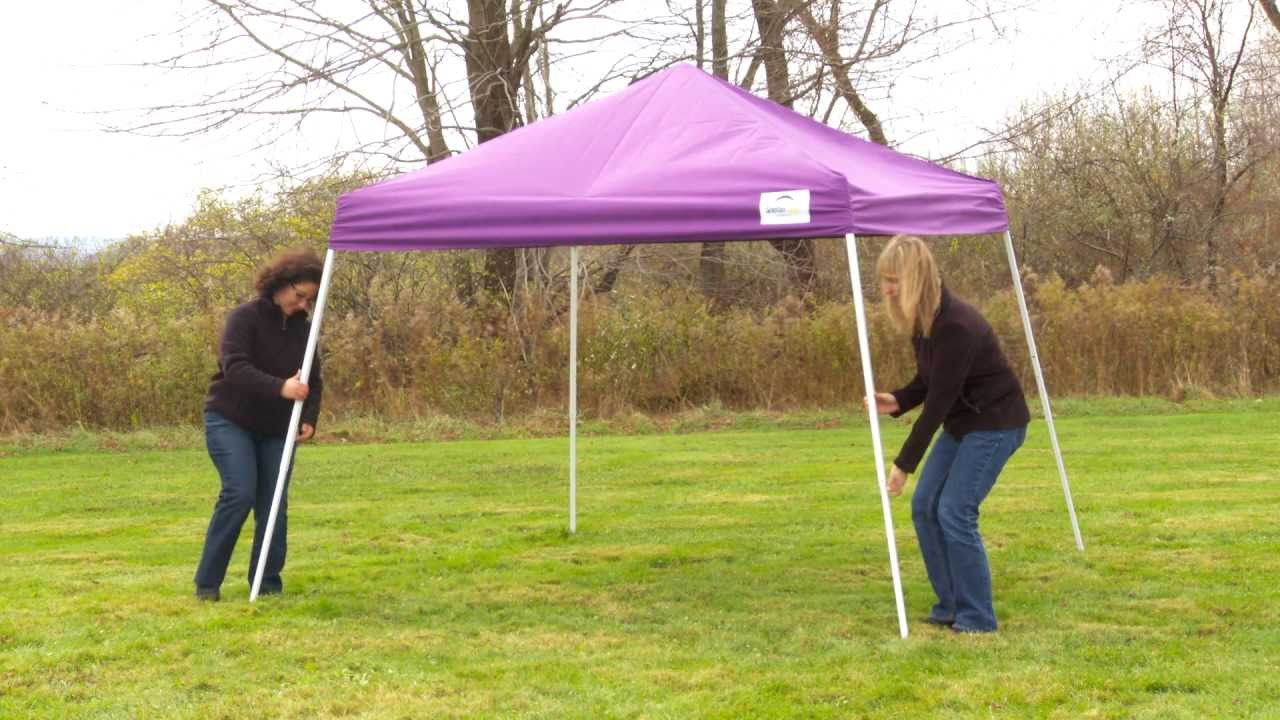 & ShelterLogic® Slant Leg Pop-Up Canopy - YouTube