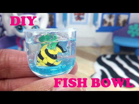 DIY Miniature Doll Fish Bowl
