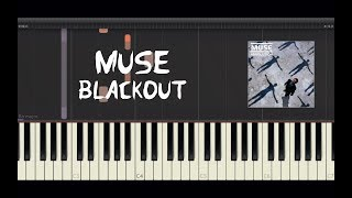 Muse - Blackout - Piano Tutorial by Amadeus (Synthesia)