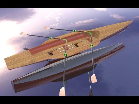 Sailing rowing camping boat