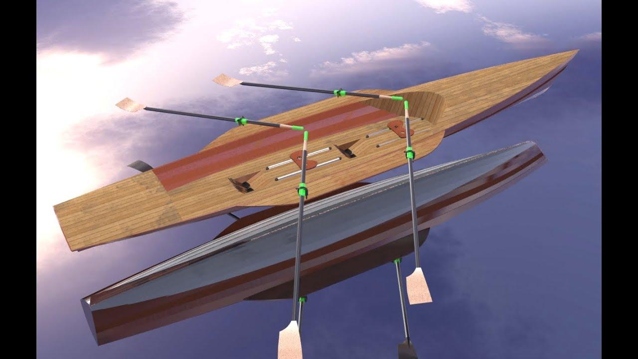 Sailing rowing camping boat - YouTube