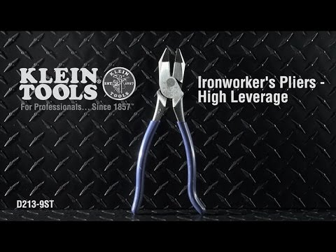 High Leverage Ironworker's Pliers (Plastic-Dipped Handle)