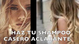 Haz tu shampoo aclarante en casa - Anastassia Sfeir