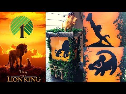 Dollar Tree Lion King Lantern DIY