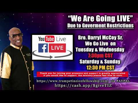 Trumpet In Zion Fellowship Sunday LIVE Stream 03/29/20