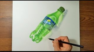 Speed Drawing Realistic A Plastic Bottle of SPRITE