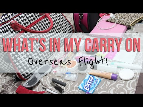 What's In My Carry On | OVERSEAS FLIGHT