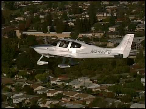 Cirrus SR22 touch & go landing in flight video helicopter HWD Hayward, CA. wcolby