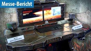 Wie KRASS können PCs aussehen? - Casemodding@Gamescom 2016 | deutsch / german