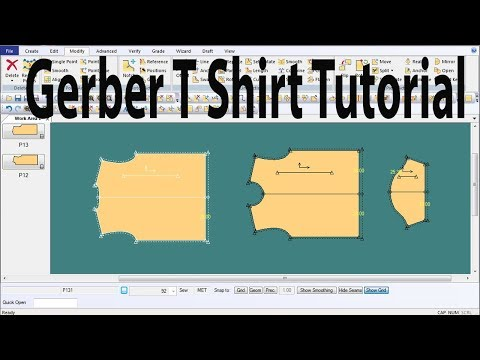 How to make T Shirt/polo shirt/Gerber Software