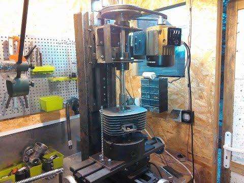Homemade Cylinder Boring machine Wytaczarka frezarka do cylindrów własnej  roboty (WSK SHL WFM) szlif