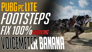 Fix Footstep problem in PUBG PC LITE    100% working    easiest way using VOICE METER BANANA