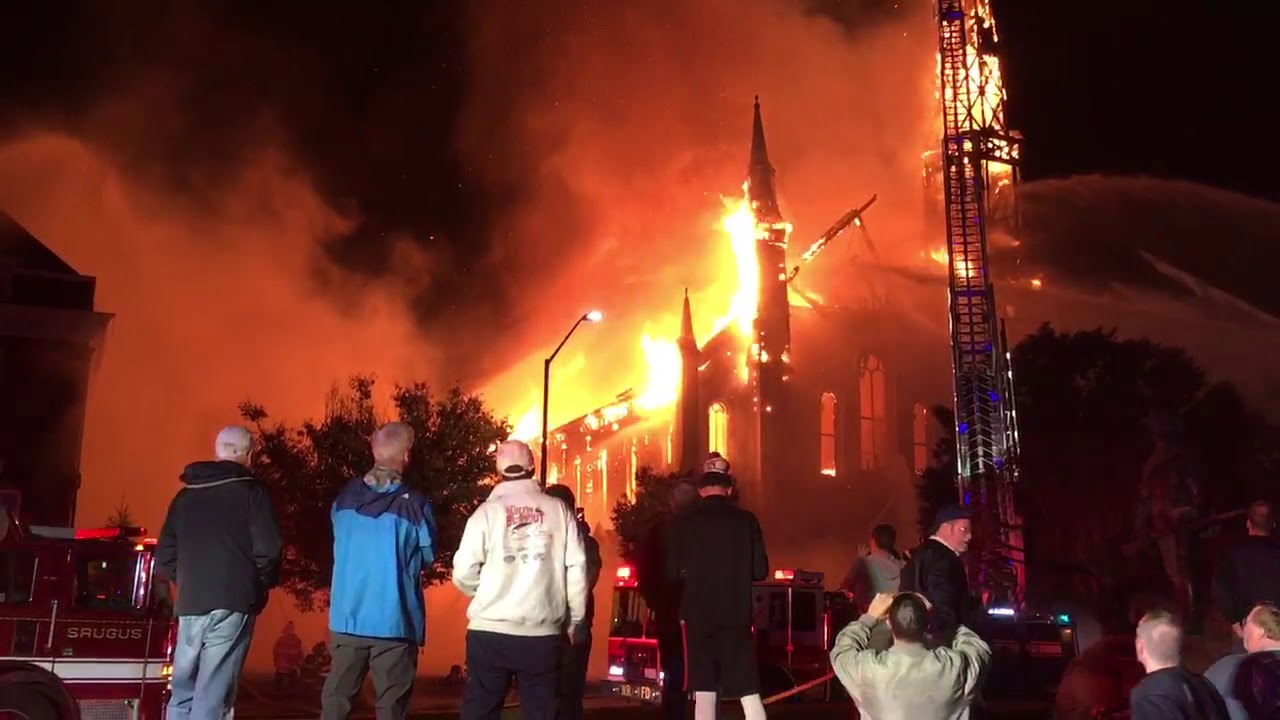 Fire At First Baptist Church In Wakefield