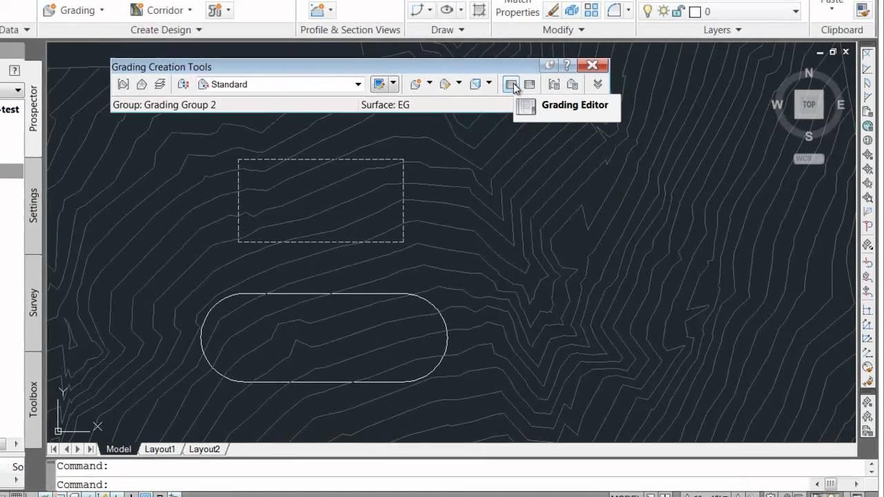 Civil 3D - Creating a Grading