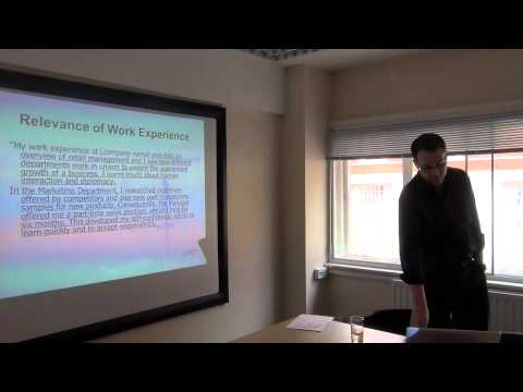 Research - Dr Steven Jones: Work Experience and the UK University Admission System (part 1)