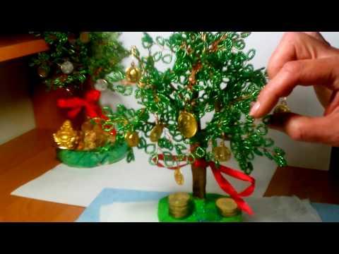 Как сделать💰Денежное дерево из бисера. Богатсво своими руками- ЛЕГКО!