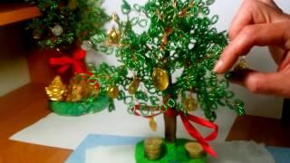 как сделать из бисера денежное дерево