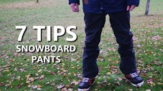 Ski Pants - 7 Tips for Buying Snowboard Pants