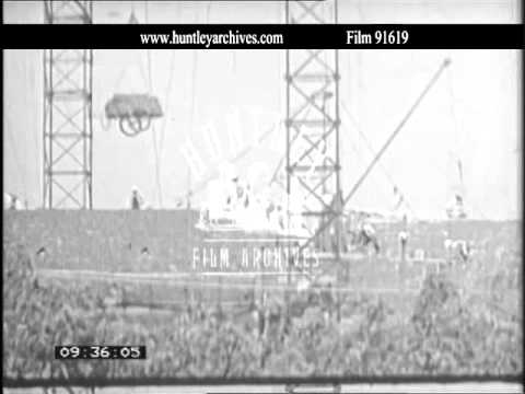 Shanghai in China.  New housing in the 1960's.  Archive film 91619