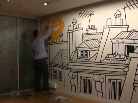 cimaise architectes invite l'artiste m. chat thomas vuille : art