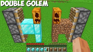 How to CREATE A DOЏBLE GOLEM in Minecraft ? DIAMOND DIRT GOLEM !