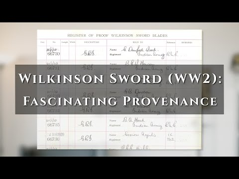 A Wilkinson Officer's Sword (WW2) - Fascinating Provenance
