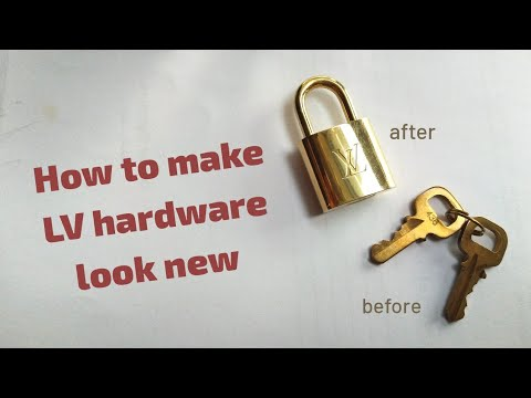 How to make LV brass hardware look new