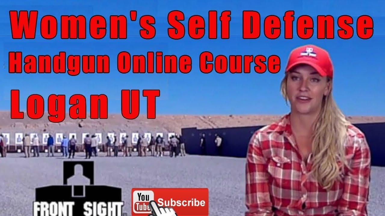 Women's Self Defense Handgun Online Course-Ladies Self Defense Handgun  Course Online-Logan UT
