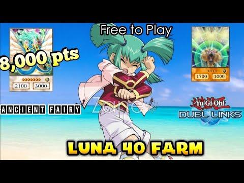How to Farm Luna Lvl 40 /8,000pts Free to Play/ [Yu-Gi-Oh! Duel Links]