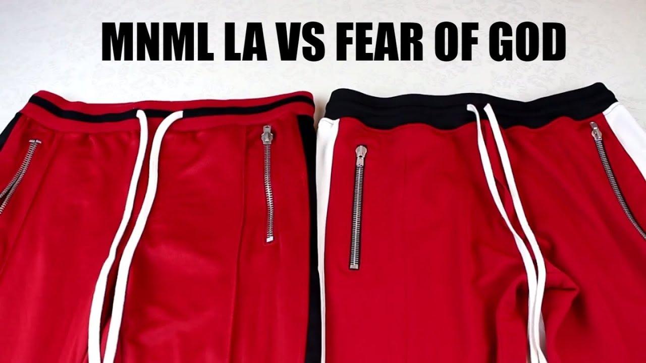 bff8ddafe79c4a Fear of God Track Pants vs MNML Track Pants - Fear of God Alternatives