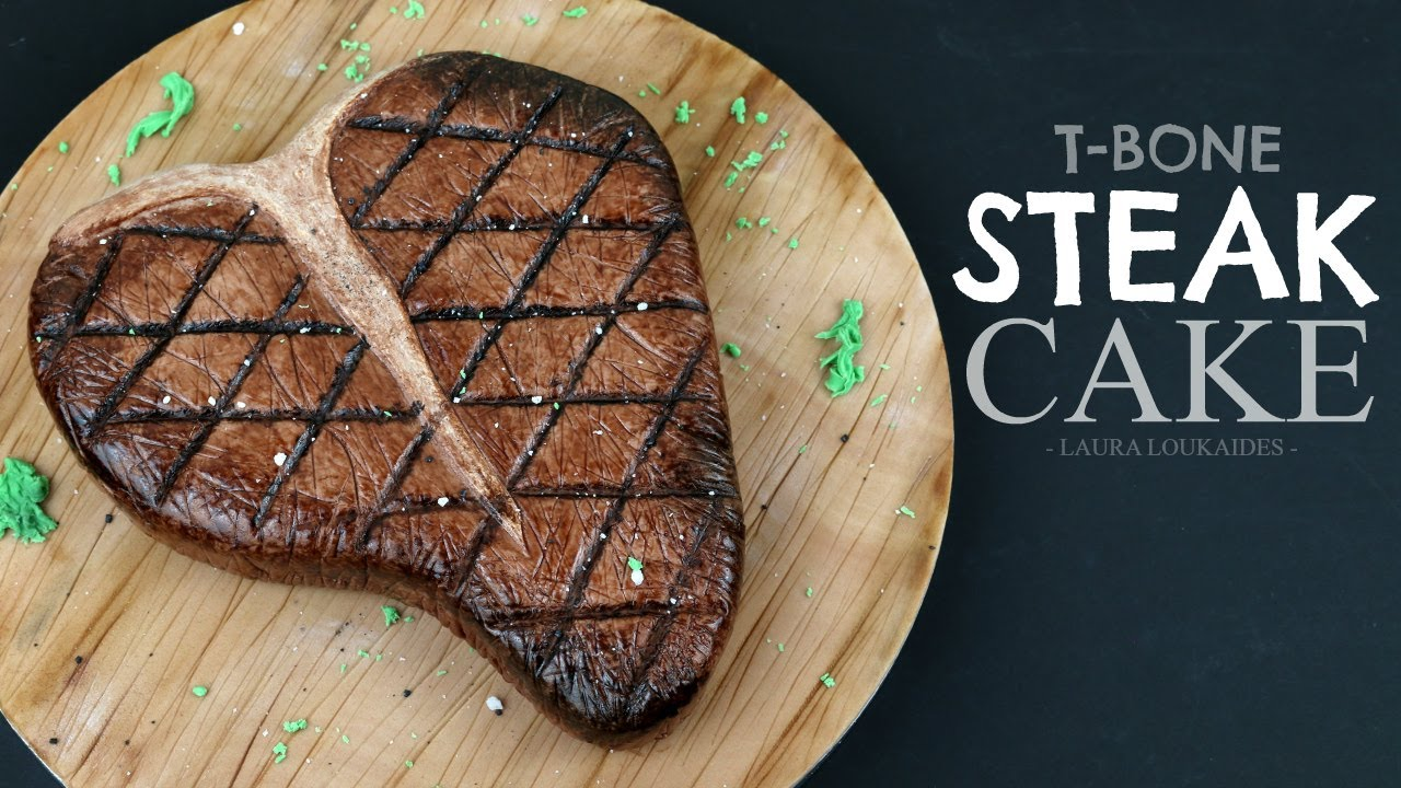 How To Make A Realistic T Bone Steak Cake Laura