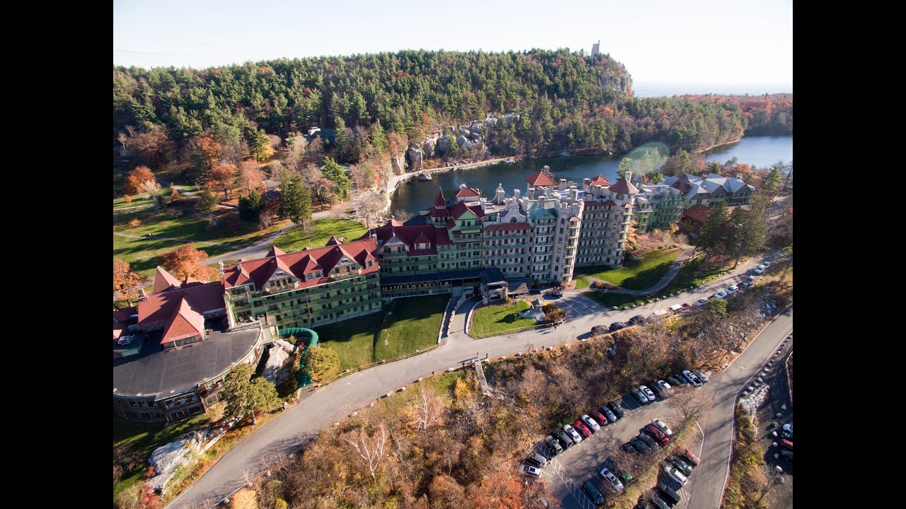 New Paltz New York >> Mohonk Mountain House Aerial - YouTube