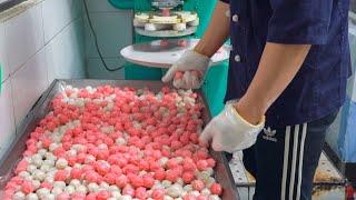 시장 떡집 꿀떡 만드는 과정, 신기한 꿀떡기계 Kkul…