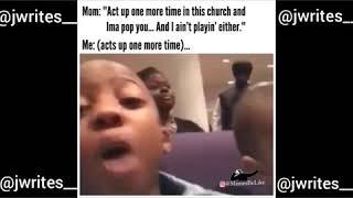 Mom Pops Kid In Church 😂 #blackmomsbelike #churchoflaugh