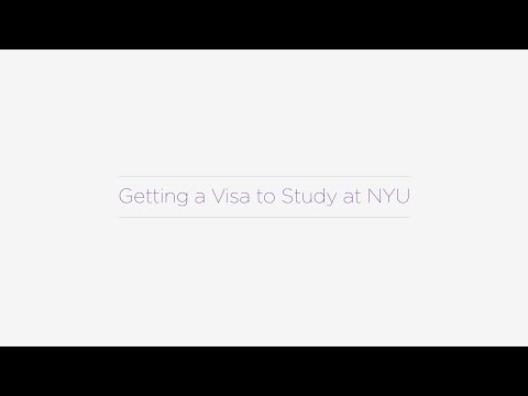 Getting a Visa to Study at NYU