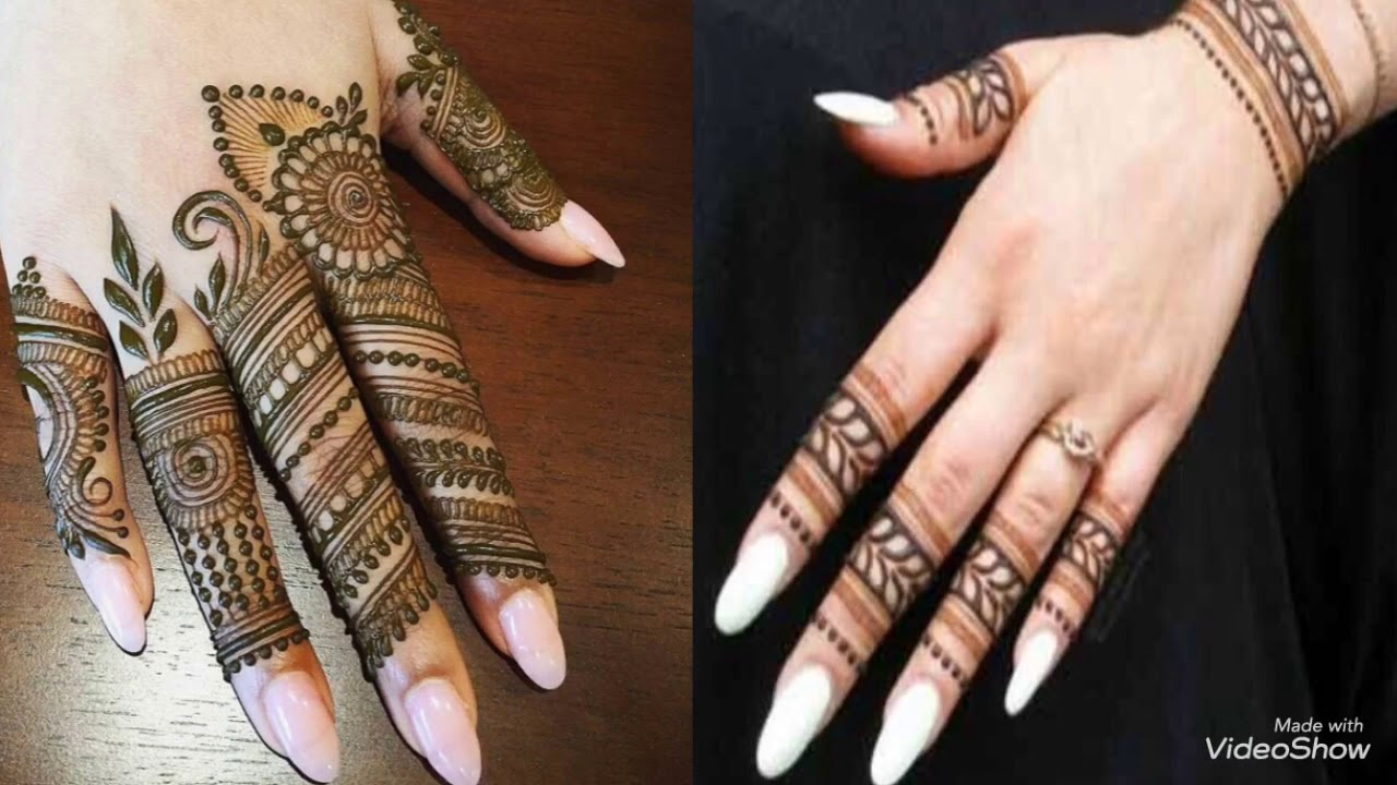 Latest Mehndi Design For Fingers Simple And Easy Mehndi Photos Only 2019