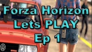 Forza Horizon Lets PLAY Ep 1 - UnBoxing/Race to the Festival | SLAPTrain