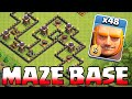 Clash Of Clans - GIANT MAZE BASE!! TROLL BASE!! (Speed build)