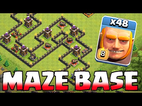 Thumbnail: Clash Of Clans - GIANT MAZE BASE!! TROLL BASE!! (Speed build)