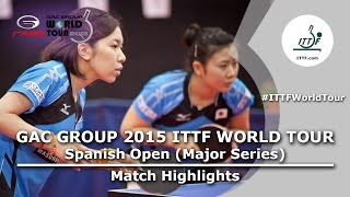 Spanish Open 2015 Highlights: HIRANO Miu/ITO Mima vs FUKUHARA Ai/WAKAMIYA Misako (FINAL)
