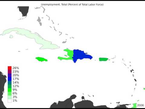 Caribbean - Unemployment, Total - Timelapse