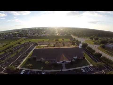 DJI Phantom 2 flying over LDS Citrus Ridge Ward Parking Lot
