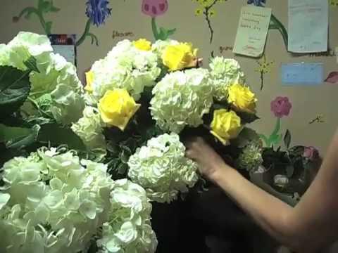 Yellow White Wedding Flowers To Philadelphia YouTube