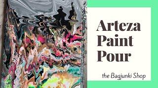 Arteza Paint Pour : Paint Pour Artwork   The Bagjunki Shop