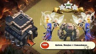 Witch Walk TH9 | Ataque 3 estrellas TH9 con Brujas y Sanadoras | Clash of Clans