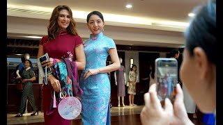 Consular Spouses Shanghai members experience traditional Chinese culture with cheongsam, Kunqu Opera